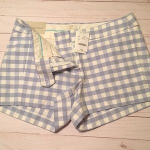 NWT J Crew Gingham short  size 4